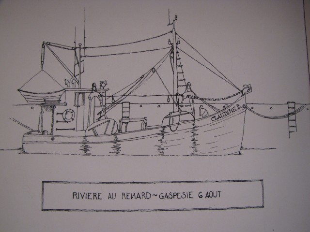pen & ink I made of one of the views while sitting in harbor
